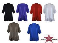 New ladies women Short selvee waterfall open cardigan plus size 14 16 18 20 22