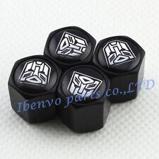 Black Styling Metal Car Wheel Tyre Tire Stem Valve Cap For Transformers AUTOBOT