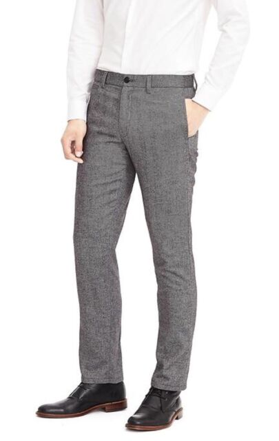 2fa637de3f Banana Republic Aiden Herringbone Wool-blend Pant Slim Fit Size 36x32 Dark  Gray
