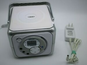 Jensen CD-555 Portable Bluetooth Stereo Music System with CD Player Silver