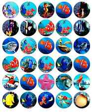 30 x Finding Nemo Edible Cupcake Toppers Wafer Paper Fairy Cake Topper