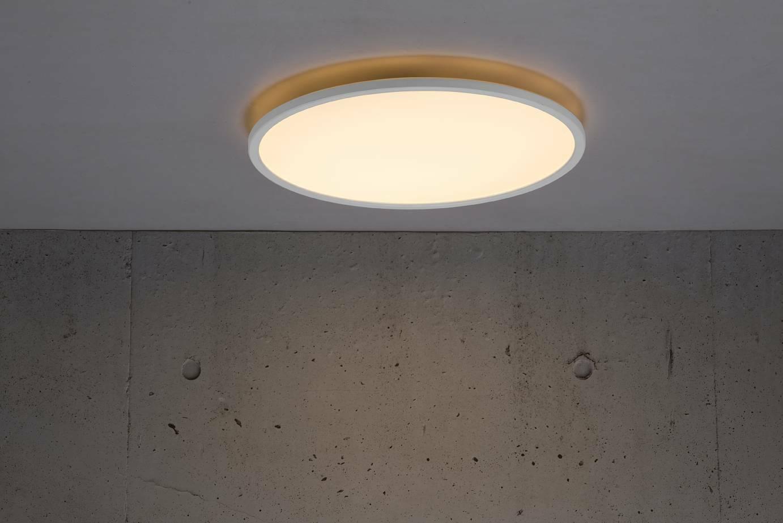 LED Deckenleuchte BRONX 42 Weiss Nordlux 22W 2100Lm 2700K warmweiß 2,5cm flach