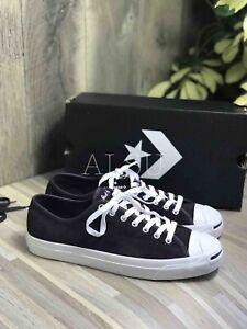 Sneakers-Men-039-s-Converse-Jack-Purcell-Suede-Low-Top-Black-Cherry-Burgundy