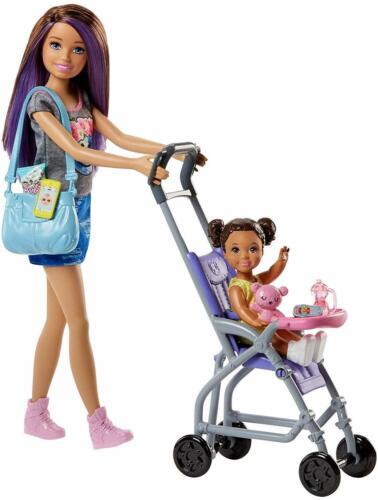 MATTEL Barbie FJB00 Barbie Skipper Babysitter Bebè e Passeggino