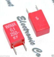 10 0 1uf 250v 10mm Itt Pmt 2r Vintage Polyester Capacitor 100nf 100n 0u1 Ebay