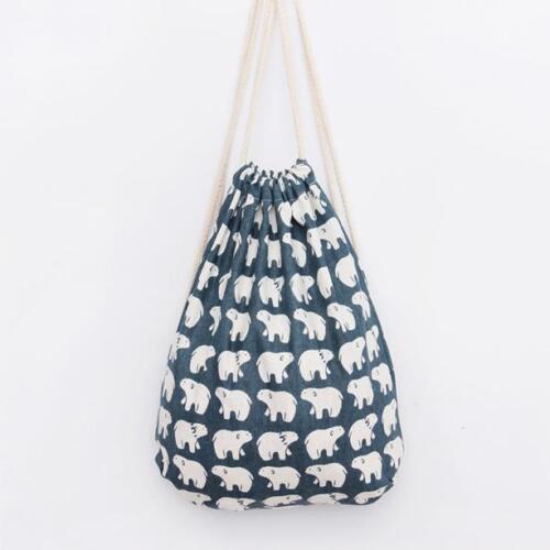 Fashion Men Women Backpacks Animal 3D Printing Drawstring Backpacks Travel Bags