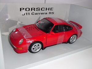 PORSCHE-CARRERA-RS-993-UT-MODELS-RED-1-18-NEW-1994-RARE-RARE