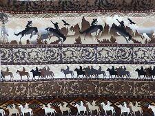 COWBOYS Fabric Fat Quarter Cotton Craft Quilting - Sunset Riders
