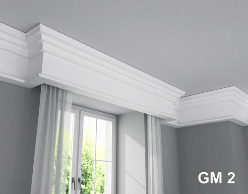 Curtain rod rail cover COVING cornice GM2 XPS lightweight MANY SIZES 2M LONG