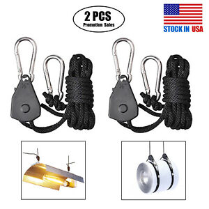 2-100 PCS Grow Light Rope Hanger Ratchet Reflector Hangers for LED Grow Light