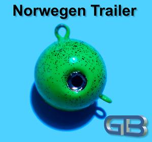 Norwegen Trailer 55g 70g 90g 115g 140g Sea Trailer Jigkopf Kugelblei mit Öse