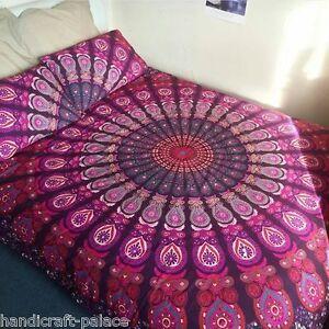 Indian Mandala Double Reversible Duvet Quilt Cover Bedding Bohemian Comforter