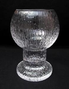 Iittala Finland Scandinavian Glass Kekkerit Vase Timo Sarpaneva Mid Century Ebay