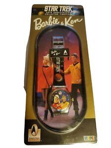 Star Trek Barbie Ken Watch 30 Anniversary Enterprise Space Kirk Spock Klingon