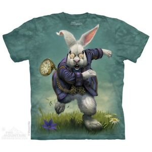 Lapin-Blanc-T-Shirt-by-the-mountain-Fantasy-Animaux-Tailles-S-5XL-NEUF