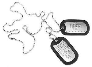 US-Dog-Tags-Erkennungsmarken-Army-Hundemarke-Glaenzend-US-tags-Praegung-Frei
