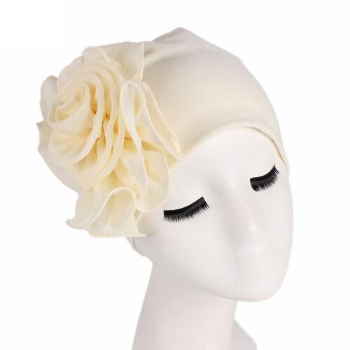 Damen Turban Hijab Chemo Mütze Kopftuch Vintage Blumen Beanie Stirnband Haarband