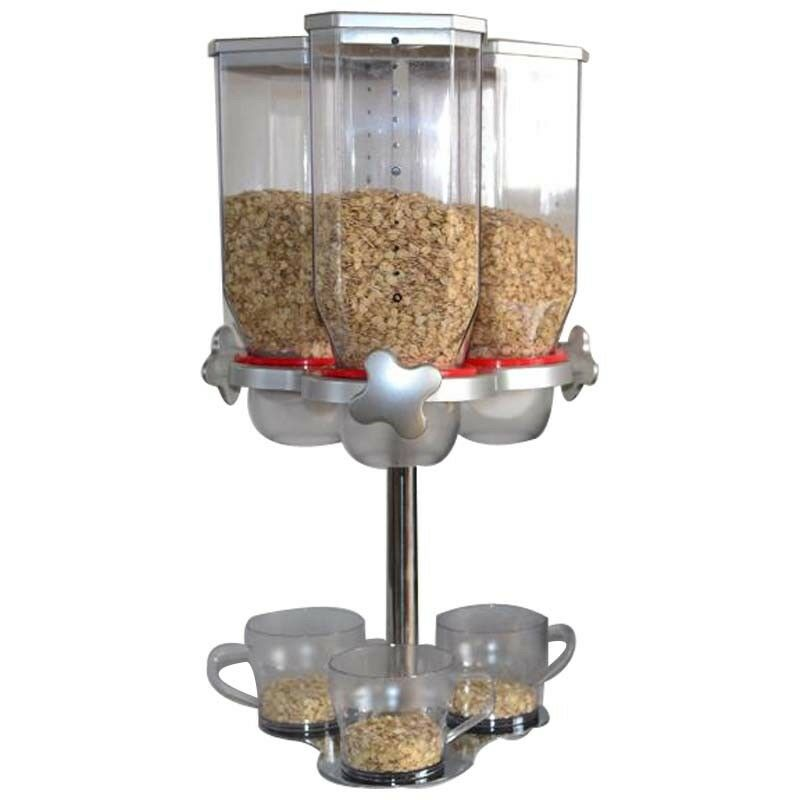 NEW 3 Wall Kitchen Dry Food Grain dispenser For A Warm Delicious And Nutritious