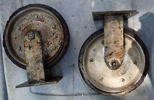 """Set of 2 Heavy Duty Wheels for Heavy Cart - 8 Inch Diameter, 1 3/4"""" Wide"""
