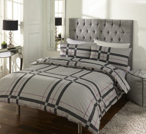 Sicily Check Pattern Duvet Covers Quilt Covers Reversible Bedding Sets by MAS