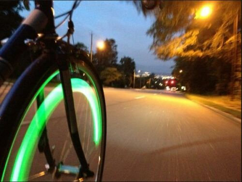 2 LED Bicycle Spoke Wheel Safety Light Cycling Push Bike BMX Mountain Bike Sport