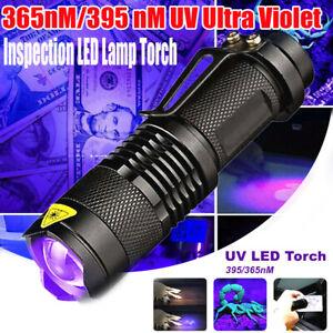 395nm UV Ultra Violet LED Flashlight Blacklight Find Urine Bodily Fluids