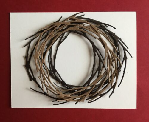 4 TWIG BRANCH WREATHS EMBELLISHMENTS SCRAPBOOKS. CARDS USE ALONE OR TOGETHER