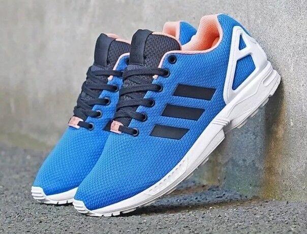 Adidas ZX Flux Reino Unido 6 Caja Azul/Blanco Nuevo Y En Caja 6 34313c