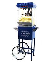 Paramount 8oz Popcorn Maker Machine & Cart - Upgraded 8 Oz Popper [blue] on sale