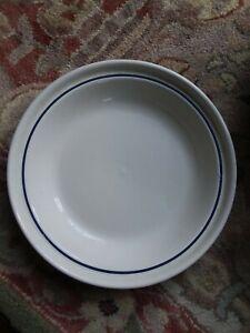 """Longaberger Grandma Bonnie Pie Plate 10/"""" Classic Blue BAKING+SALAD+PIES+SERVING"""