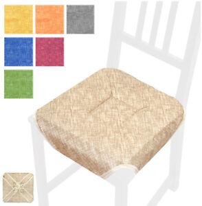 CUSCINO-imbottito-copri-sedia-ALETTE-lacci-UNIVERSALI-cucina-soggiorno-sala-casa