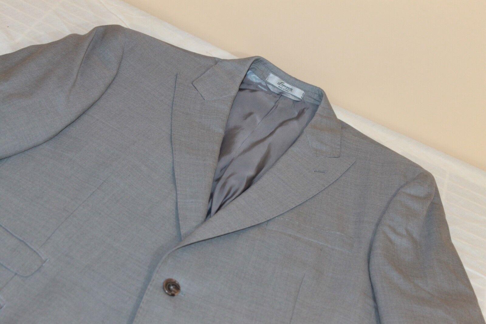 RALPH LAUREN Peaked Lapel Weiß Label grau Blazer 44 R 100% Wool