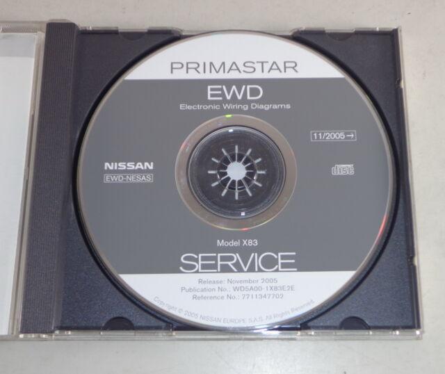 Workshop Manual On Cd Nissan Primastar X83 Electric