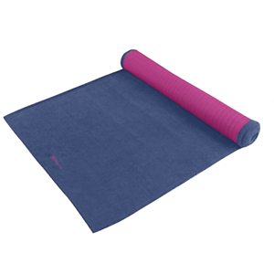 Gaiam Grippy Yoga Mat Towel 24 X 68 Blue Fuchsia Full Size New Ebay