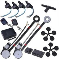 Electric 2 Power Motor Window Roll Up + 4 Door Lock Conversion Kit For Car Truck on Sale
