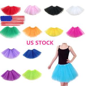 Women-Adult-Fancy-Dancewear-Tutu-Pettiskirt-Shirt-Skirts-Dance-Fairy-Tulle-Dress