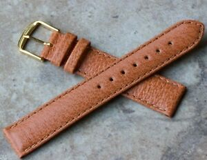 Padded-great-texture-Genuine-Pigskin-18mm-vintage-watch-strap-NOS-1960s-70s