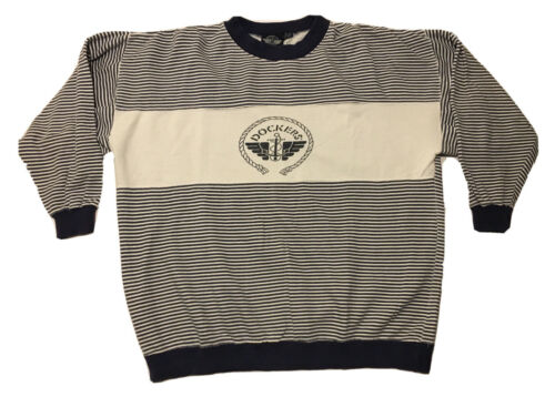 Vintage 90s Dockers Levis Mens Crewneck Sweatshir… - image 1