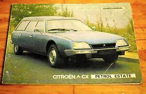 citroen cx petrol estate owners manual july 1977 ebay rh ebay com Citroen XM Citroen ZX