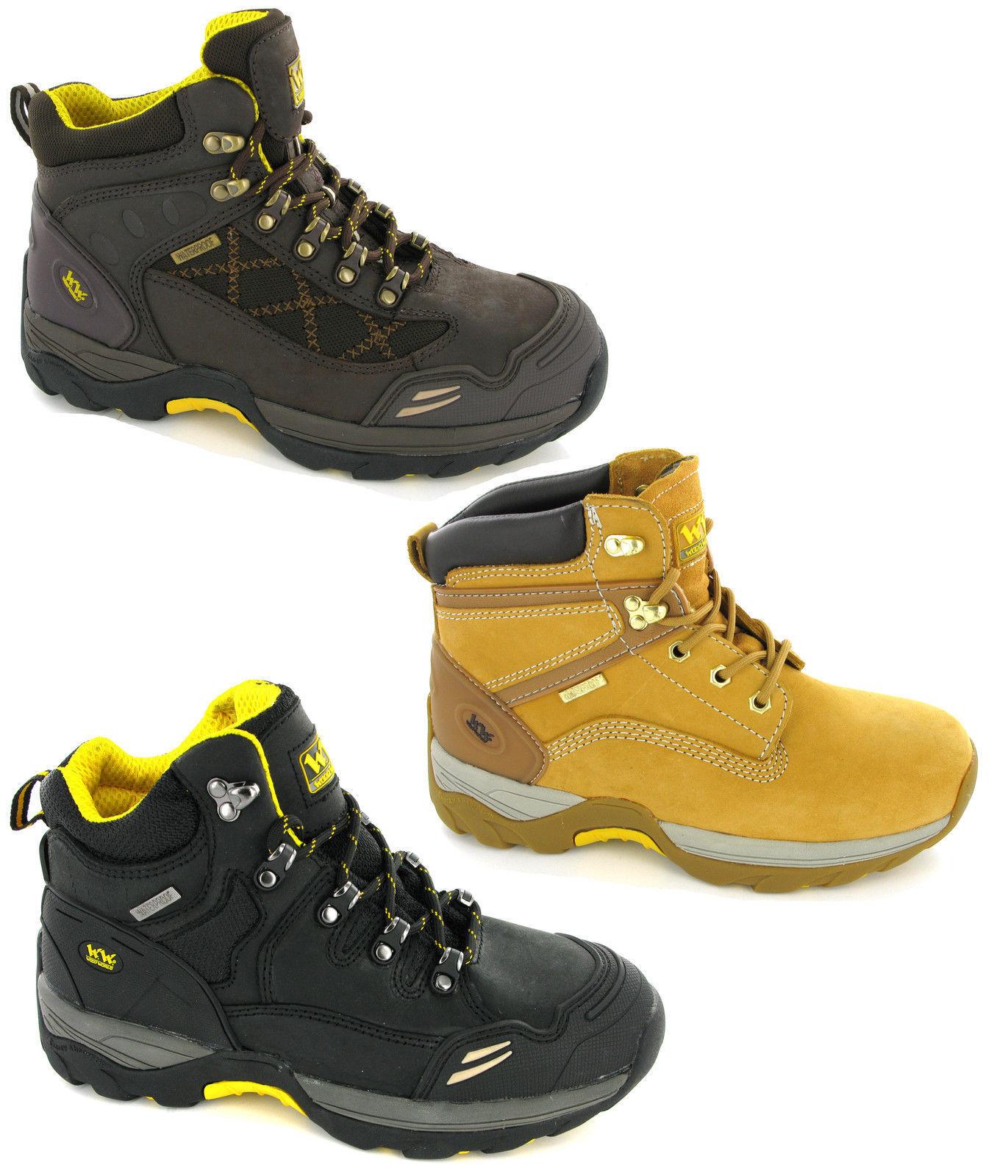 Woodworld Leder Safety Waterproof Steel Toe Cap Safety Leder Work  Uomo Stiefel UK 6-12 727c61