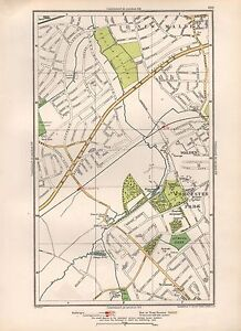 1936 LARGE SCALE MAP LONDON MALDEN WORCESTER PARK TOLWORTH eBay
