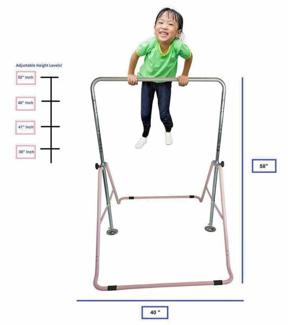 Kids Jungle Gym Monkey Bar Athletic Horizontal Gymnastics Adjustable Playground