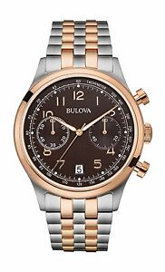 Bulova-Men-039-s-98B248-Chronograph-Two-Tone-Quartz-Stainless-Steel-43mm-Watch
