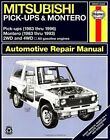 Mitsubishi Pick-ups (1983-1996) and Montero (1983-1993) Automotive Repair Manual by Curt Choate, J. H. Haynes, Larry Warren (Paperback, 1993)