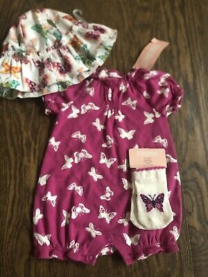 Gymboree Butterfly Spring Girls Size 0-3 Months Hat NEW