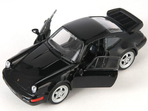 Blitz envío Porsche 964 turbo negro//Black Welly modelo auto 1:34 nuevo /& OVP