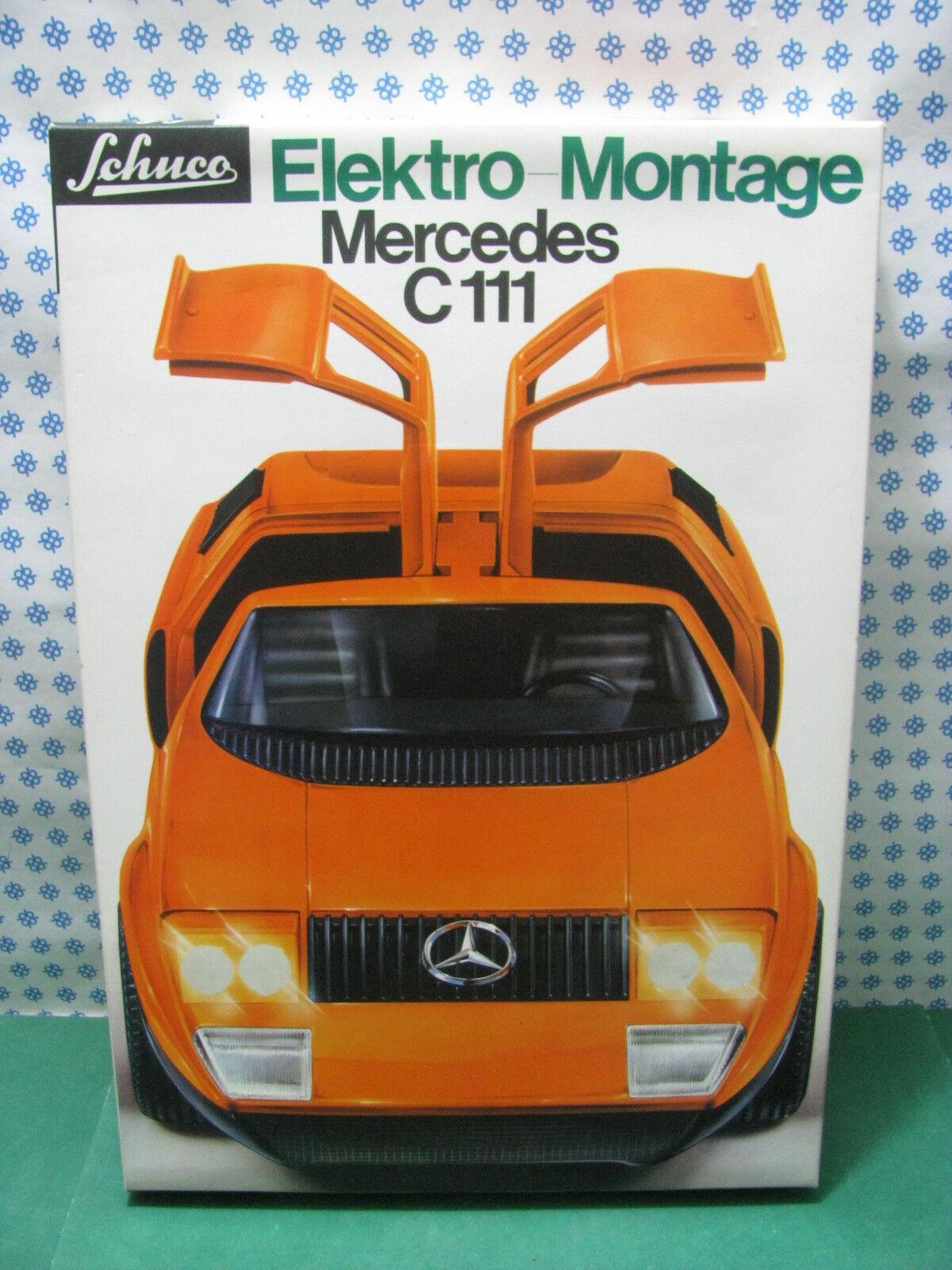 Estremely RARE SCHUCO  5508  - MERCEDES  C111 Elektro  Montage   -  Nuova   Mint