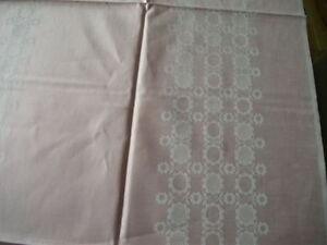 Orig-DAMAST-hochwertiges-Tafeltuch-Tischdecke-rose-130-x-160-cm-NEU