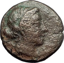 KYME in Aeolis 250BC Authentic Ancient Greek Coin AMAZON w HORSE & VASE i62009
