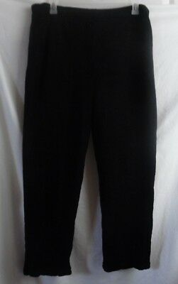 Activewear Activewear Bottoms Dependable Secret Treasures Black Fleece Velour Elastic Waist Lounge Long Pants 2x 18w 20w